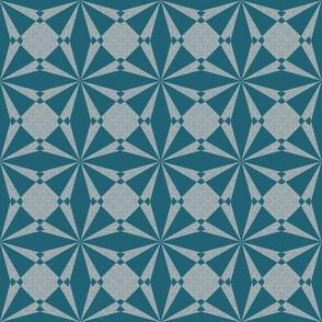geometric in teal
