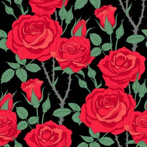 Roses red