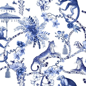 "Chinoiserie  - ""Whimsy""  -  Blue and White"