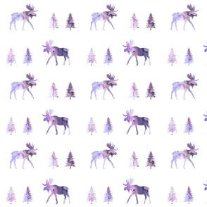 moose trot // eggplant watercolor