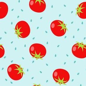 Summer Tomatos in Blue