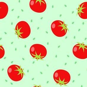 Summer Tomatos in Green