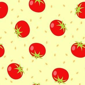 Summer Tomatos in Yellow