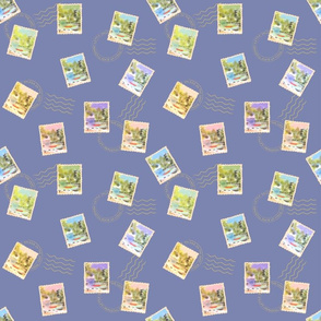 Stamps from the Lake - Small Scale Blue