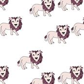 King of the jungle wild cat lion friends cute kids animals pink girls