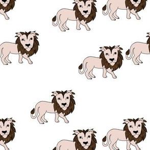 King of the jungle wild cat lion friends cute kids animals gender neutral brown rust
