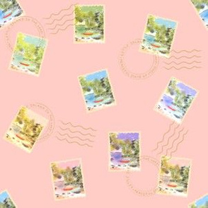Stamps from the Lake - Pink