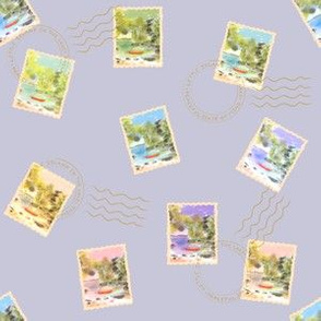 Stamps from the lake - Lilac