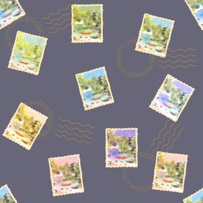 Stamps From The Lake - Slate