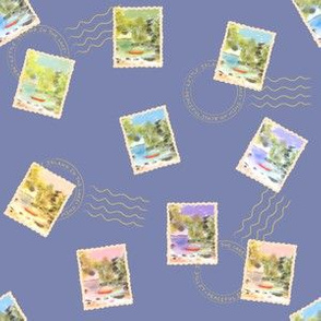 Stamps From The Lake - Blue