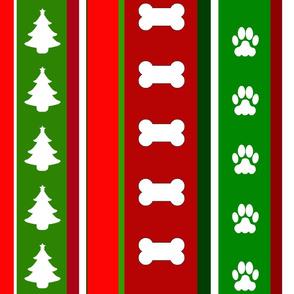 Dog Stripes Christmas-theme