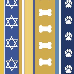 Dog Stripes Hanukkah
