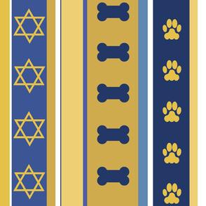 Dog Stripes Hanukkah 2