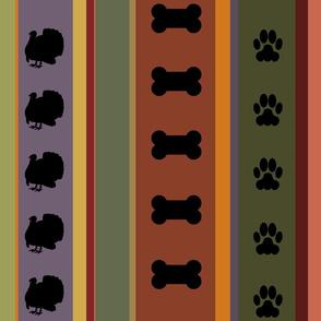 Dog Stripes Thanksgiving
