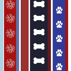 Dog Stripes 4th of July