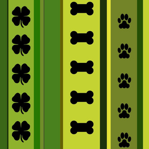 Dog Stripes St. Patrick's Day