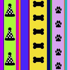 Dog Stripes Birthday Party
