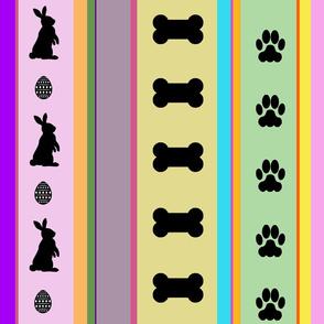 Dog Stripes Easter