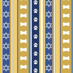 Dog Stripes Hanukkah_Medium Scale