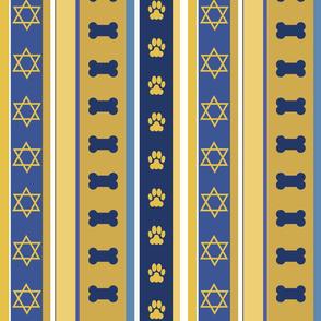Dog Stripes Hanukkah 2_ Medium Scale