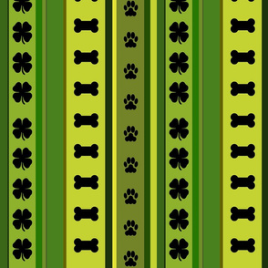 Dog Stripes St. Patrick's Day_Medium Scale