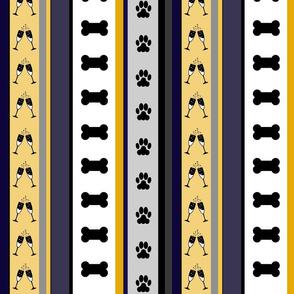 Dog Stripes New Years Eve_Medium Scale
