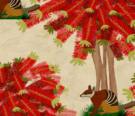 Rrrrbottle-brush-tree-and-numbat-repeating_contest251907preview