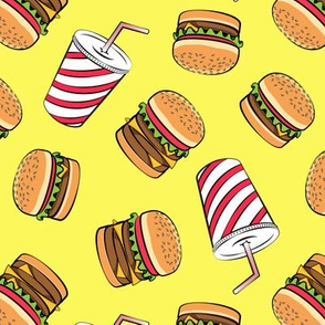 Hamburgers and Milkshakes - foodie - fast food - yellow -  LAD19