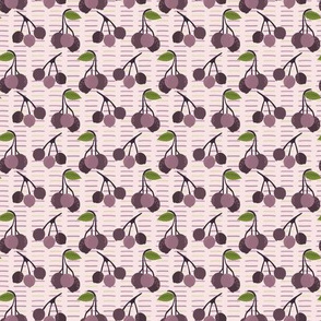 Realistic aronia berry illustration Seamless repeating pattern