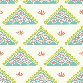 Pretty geometric lacy triangle pattern.