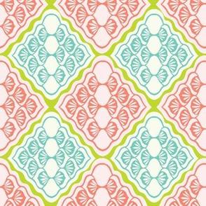 Pretty geometric diamond damask pattern. Seamless repeating.