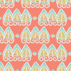 Pretty lacy paisley style pattern. Seamless repeating.