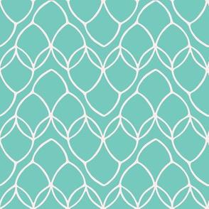 Pretty leaf loop mesh pattern. Seamless repeating