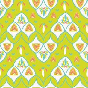 Pretty stylized floral pattern. Seamless repeating.
