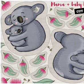 Mama and baby koala cut and sew