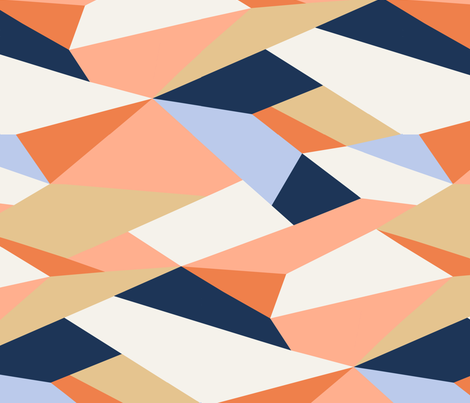 Moderne Geometric - Rotated fabric by willowlanetextiles on Spoonflower - custom fabric