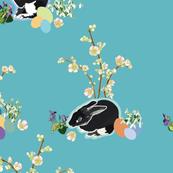 turquoise_black_rabbit_cherry_branch_01_seaml_stock