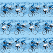 Tour de Bicycle Race -Blue