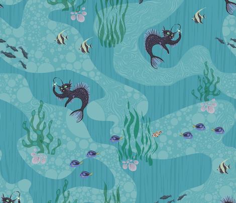 Angler Mercat fabric by dilatorysloth on Spoonflower - custom fabric