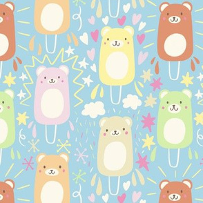 Kawaii bear ice lollies