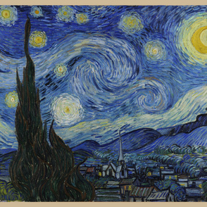 "Starry Night - original colors - 45""x54"" panel"