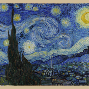 "Starry Night - original colors - 36""x 42"" panel"