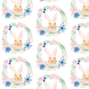 Watercolor Bunny Wreath
