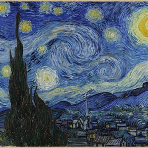 "Starry Night - original colors - 45""x56"" panel"