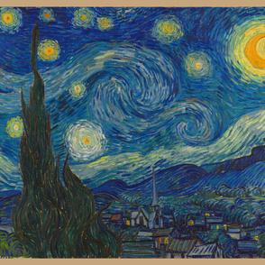 "Starry Night - bright colors - 45""x54"" panel"