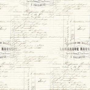 Vintage French Receipt Handwriting
