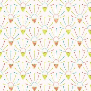 Pretty flower burst decorative pattern