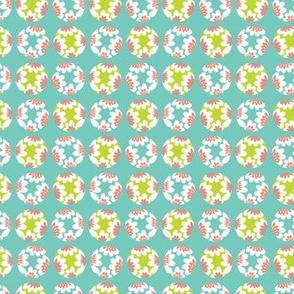 Bright flower polka dot pattern