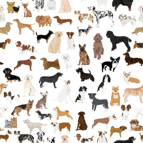 dogs -  dog fabric lots of breeds cute dogs best dog fabric best dogs cute dog breed design dog owners will love this cute dog fabric