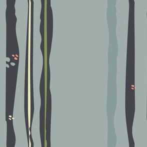 Organic Stripe Gray and Mocha-01